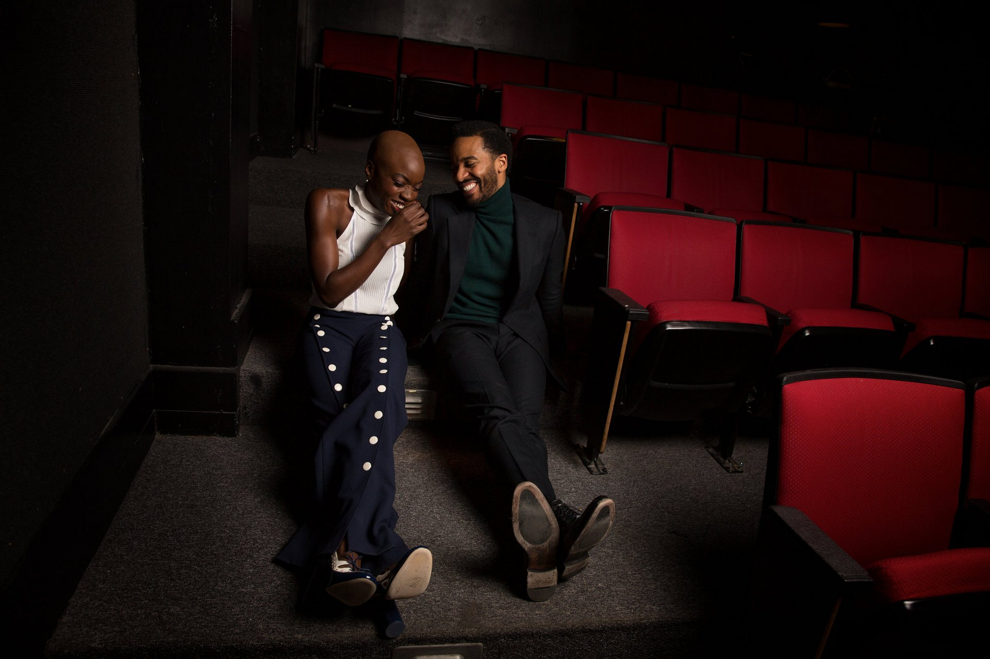 Danai Gurira and André Holland for New York Times