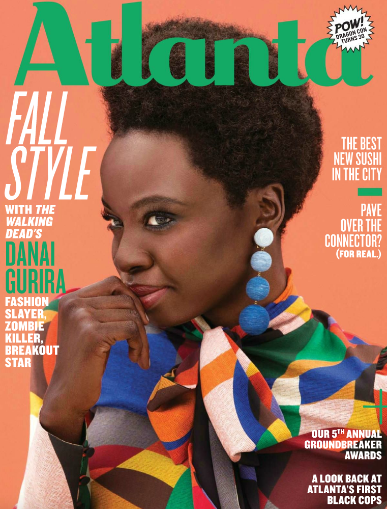 Danai Gurira in Atlanta Magazine