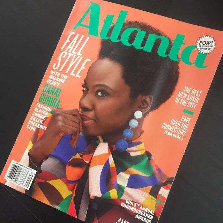Danai Gurira will cover the September issue of Atlanta Magazine