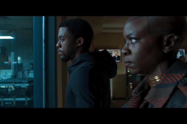Chadwick Boseman and Danai Gurira in Black Panther