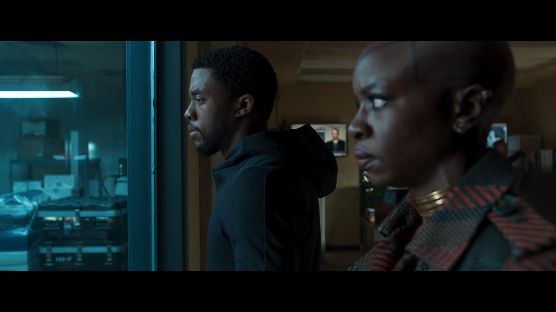 Chadwick Boseman and Danai Gurira in Black Panther