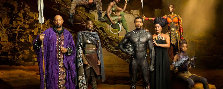 The cast of Black Panther in EW