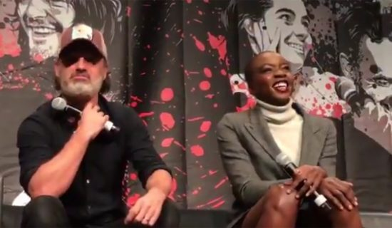 Danai Gurira and Andrew Lincoln at Walker Stalker Con Atlanta